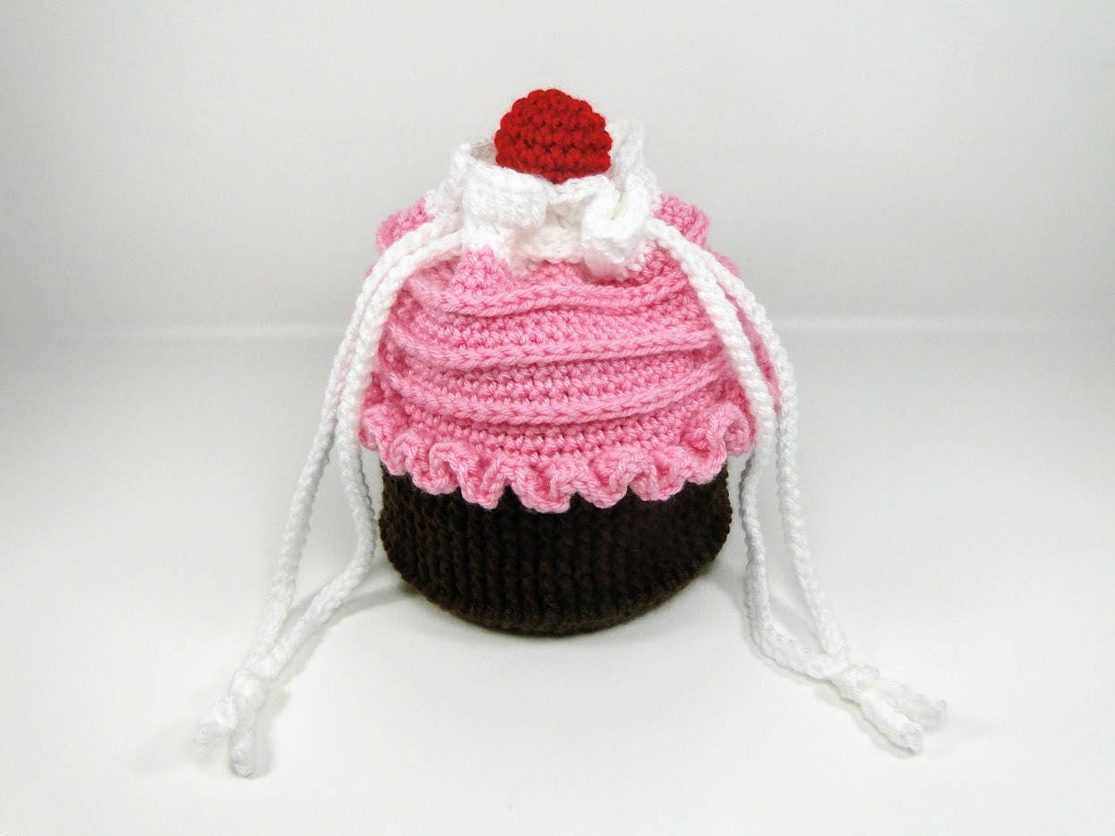 Cupcake Purse Crochet Pattern - Cupcake Purse in Two Sizes Crochet ...