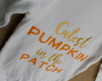 Cutest Pumpkin in the Patch Baby Girl Bodysuit