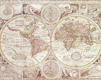 World map fleece blanket throw enjoy the map fleece blanket throw antique map pastel tones sofa couch bed gumiabroncs Images