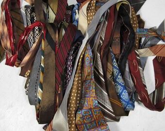 Vintage Neckties Lot 1940s 50s 60s 70s Men's Neckwear 35 Count Various Conditions