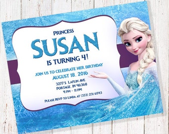 Frozen Birthday Invitation (DIGITAL FILE)