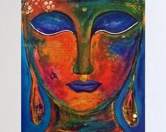 Goddess art - Inspirational art - Spiritual wall art - Gift for her - Buddha art - Powerful women - Meditation art - Be brave - Inner peace