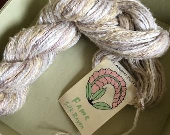 Classic Elite Yarns Fame Silk Rayon Blend Yarn destash yarn naturals 1466