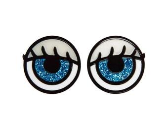 Creepy Dolls Eyes ring set - laser cut acrylic