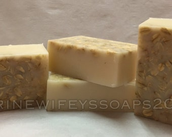 Sweet Almond Honey & Oatmeal Goats Milk Soap, Natural Soap, Goats Milk, Hand Soap, Body Soap, Face Soap, Men, Women, Kids, Soothing, Gift