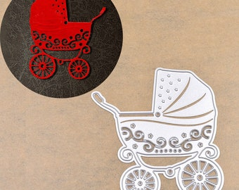 MATRIX of cutting, stroller baby 8.5 x 7.5 cm