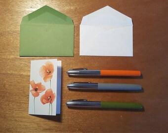 Poppies Enclosure Card 10 Pack