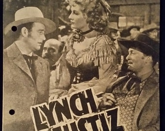 Original 1942 In Old California Austrian Program, Herald Movie Poster, John Wayne, Western, Cowboy