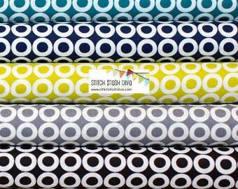 Spot on Circle Bundle From Robert Kaufman Fabrics - 7 Fabrics - See Notes