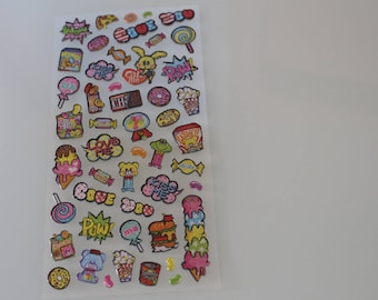 Candy sweets stickers