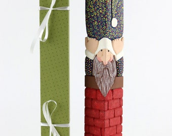 Santa Hand Carved in Basswood and painted with Acrylics//Christmas Gift//Decoration/Gift//Santa Claus//Wood//Woodcarving//Wood Carved//Santa