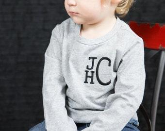 Boys Monogram t-shirt or bodysuit -- Monogram gift, children's shirt, shirts for kids, personalized gifts, custom shirt, custom outfit