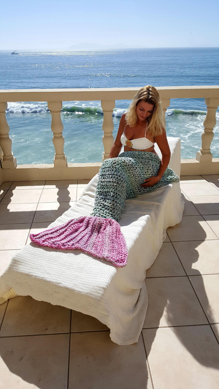 Mermaid Tail Decke bereit Schiff Meerjungfrau Flosse Decke