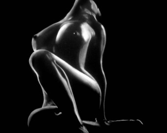 Modern art nude of woman 36 pastel