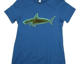 Shark Woodie: Ladies ORGANIC Cotton American Apparel Tee