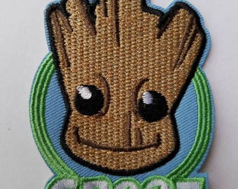 I am Groot Iron On Patch - Baby Groot Iron on Patch - Guardians of the Galaxy Applique'