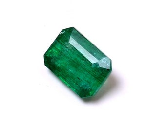 AMAZING EMERALD 3.90Cts Loose Emerald Gemstone , octagon Emerald Gemstone, Emerald Stone,Green Emerald Amazing 0021