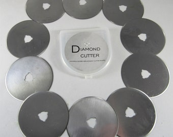 10 Pack Diamond Cutter 45mm Universal Rotary Cutter Replacement Blades