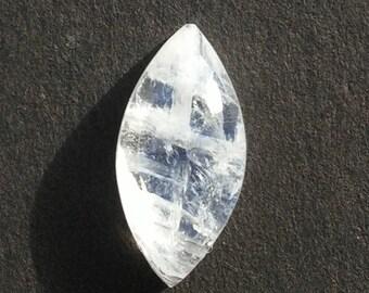Rainbow Moonstone Cabochon 4.5 Ct (16x8x5 mm) Marquise Shape Natural Gemstone MR-3