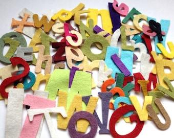 Wool Felt Alphabet Letters Die Cut 78 ct. - Random Size & Colors 2614 Stock image* Felt Learning - Felt Words - Die Cut Letters - Felt Board