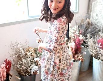 Hot & Restock - Girl Dress -Floral Tunic Dress (infant/toddler/girl) - Start ship 5/20/2018-