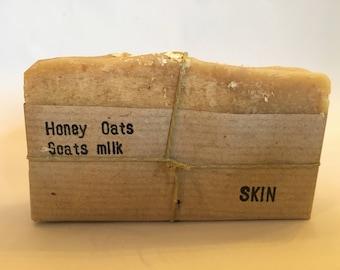 SALE!! Honey Goats Milk and Oats Soap, For sensitive skin