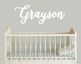 large baby wall name sign for above crib or nursery name sign
