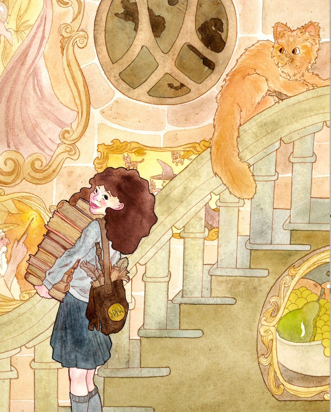 Hermione Watercolor Art Print Hermione Granger Wall Art
