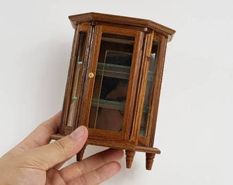 Thai Cabinet of wood for dollhouse miniature vintage style