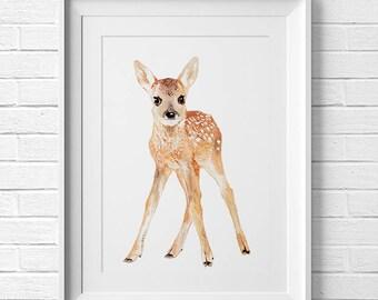 Be Kind Deer Print Woodland Nursery Art Nursery Forest Fawn Nursery Painting Woodland Animal Nursery Decor Woodland Creatures Baby Shower