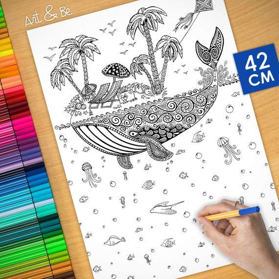 Coloring poster - WHALE (...