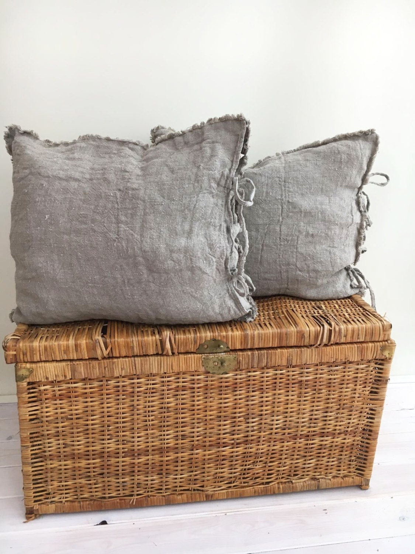 mosaic products pillowcase faux inc burlap pillow