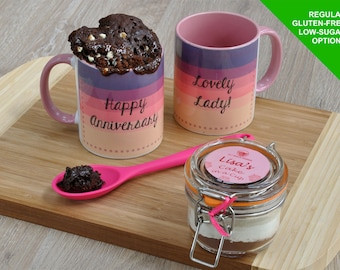 Lady anniversary gift present, girlfriend gift, wife present, lady happy anniversary, sweet gift for wife, wedding aniversary mug