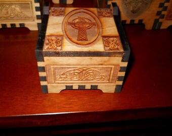 Celtic Cross Box in Cherry