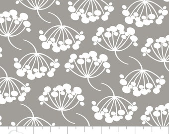 Camelot Fabrics Green with Envy Collection,Floral Cotton Fabric on Grey, Quilting and Patchwork Fabric