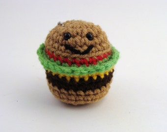 OMG Mini Cheeseburger Plush Ornament or Keychain