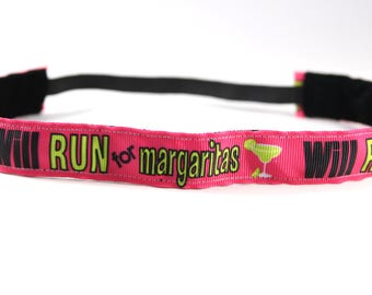 Will Run for Margaritas Headband, Gift for Runners, NoSlip Headband, Workout Accessory, Sports Headband, Running Headband, Margaritaville