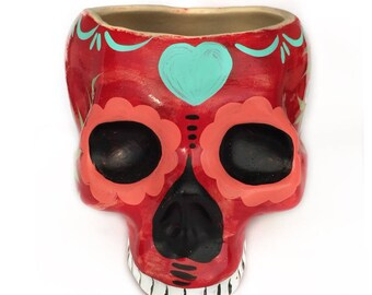 Skull - skull - flower pot flower pot