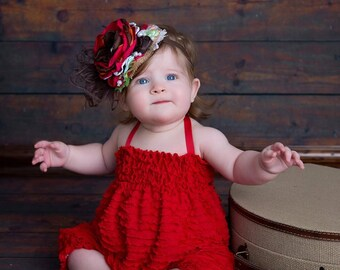 Ruffle Romper RED by Cheeky Chic Baby