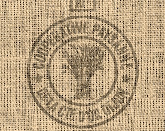 1930s VINTAGE GRAIN SACK Image Transfer - Digital Download 8 1/2 x 11 in.