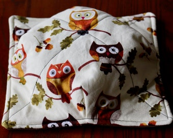 Owls on Branches Soup Bowl Cozy