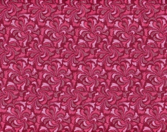Blender Quilt Fabric - Shades of  Pink and Red with Tiny White Dots - Springs Industries - OOP - 1/2 Yard