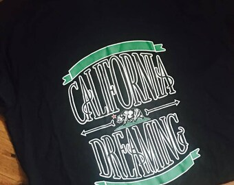 CALIFORNIA DREAMING california republic black t-shirt