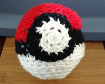 Hand Crocheted Pokeball - 5 inches
