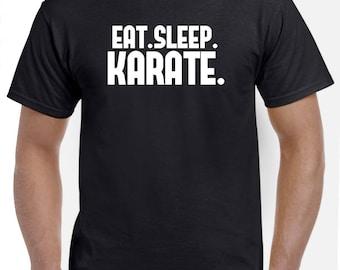 Karate Shirt-Eat Sleep Karate Gift Men Women Kickboxer