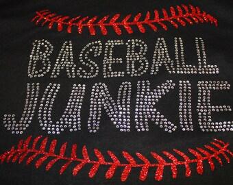 Baseball Junkie Bling Shirt, Baseball Mom Shirt, Baseball Shirt, Baseball Junkie, Baseball Tee, Softball Junkie Shirt, Baseball Mom Tank
