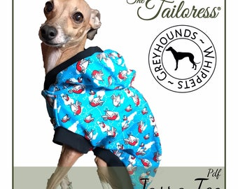 Size Medium (5-8) - GREYHOUND & WHIPPET Jasra PDF Sewing Pattern|Sewing Patterns for Dog|Dog Tee Sewing Patterns|Sewing Pattern|Pdf Pattern