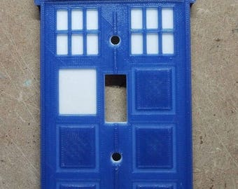 Doctor Who Tardis Light Switch Cover (3d printed)