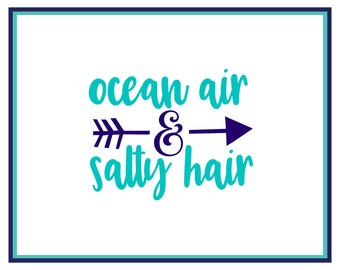 Salty Air Sunkissed Hair