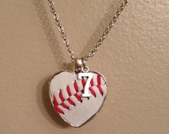Baseball Leather Necklace
